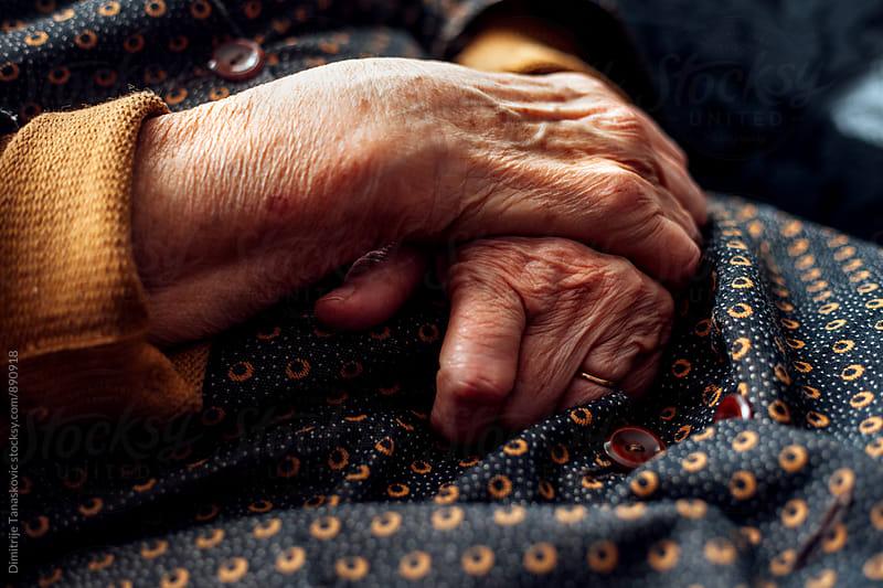 Senior woman hands by Dimitrije Tanaskovic for Stocksy United