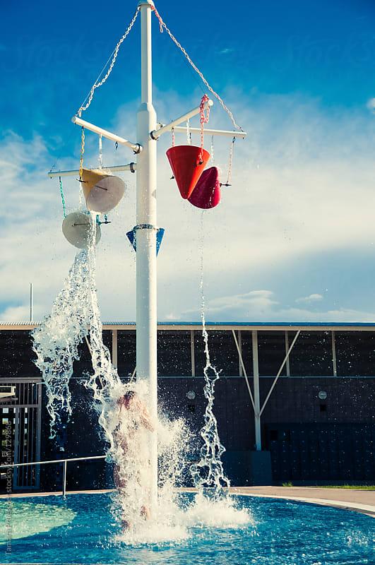 Woman Under Water Splash by Tamara Pruessner for Stocksy United
