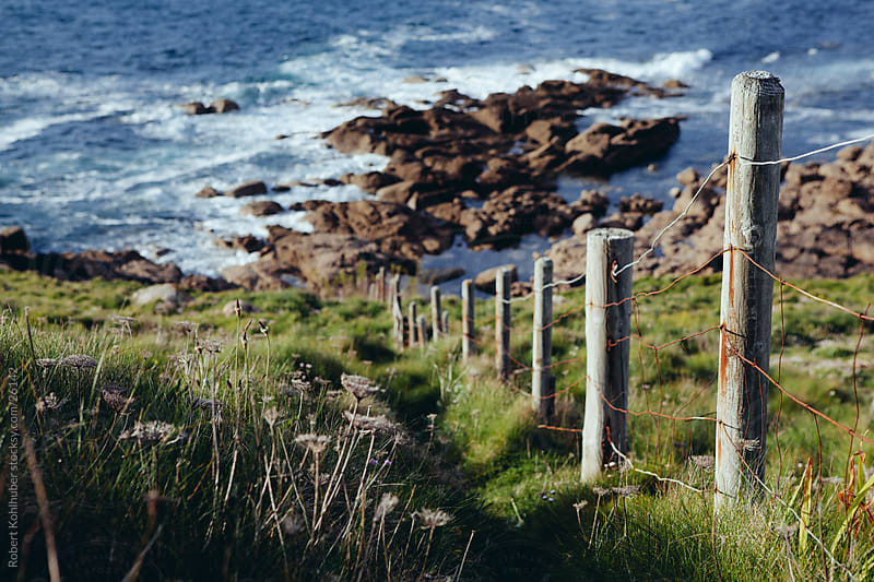 Pathway at a coast in Dorset, england by Robert Kohlhuber for Stocksy United