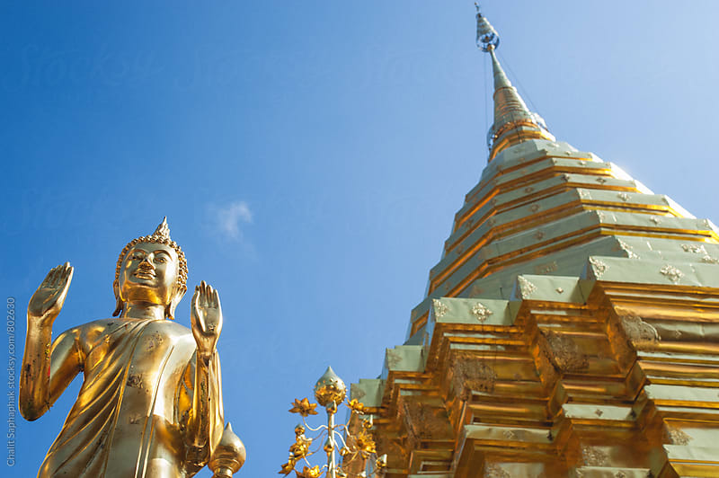 Wat Phra That Doi Suthep by Chalit Saphaphak for Stocksy United