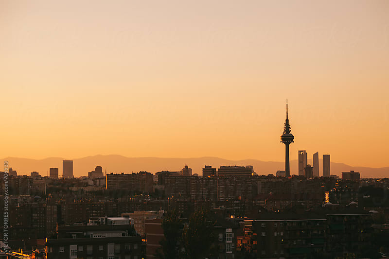 Madrid Skyline a† Sunset by Victor Torres for Stocksy United
