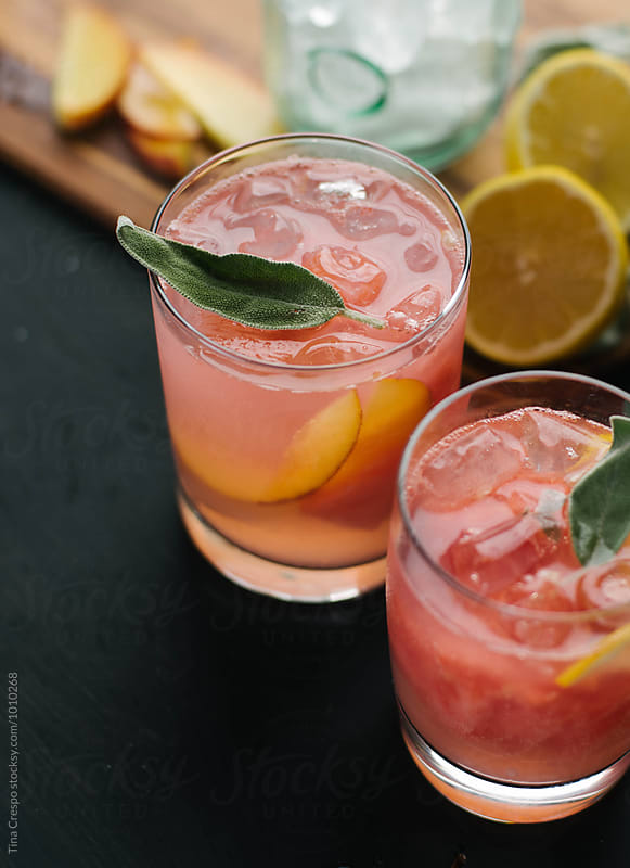 Peach and Lemon Mixed Drink by Tina Crespo for Stocksy United