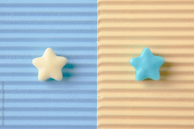 Composition with sugar candy stars. Pastel tones. by BONNINSTUDIO for Stocksy United