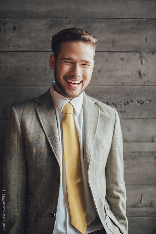 Portrait of a Smilling Businessman by Lumina for Stocksy United