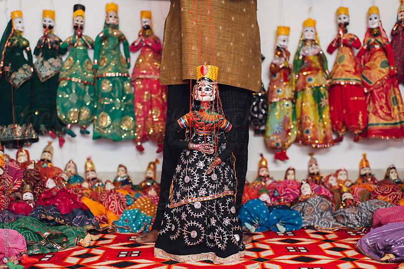 The Traditional Rajasthani  Dolls by Alexander Grabchilev for Stocksy United