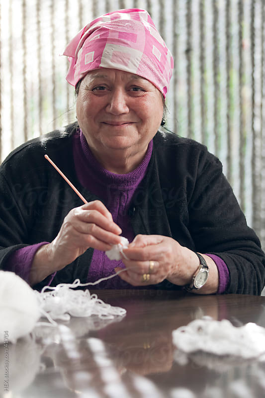 Ederly Woman Embroidering by HEX. for Stocksy United