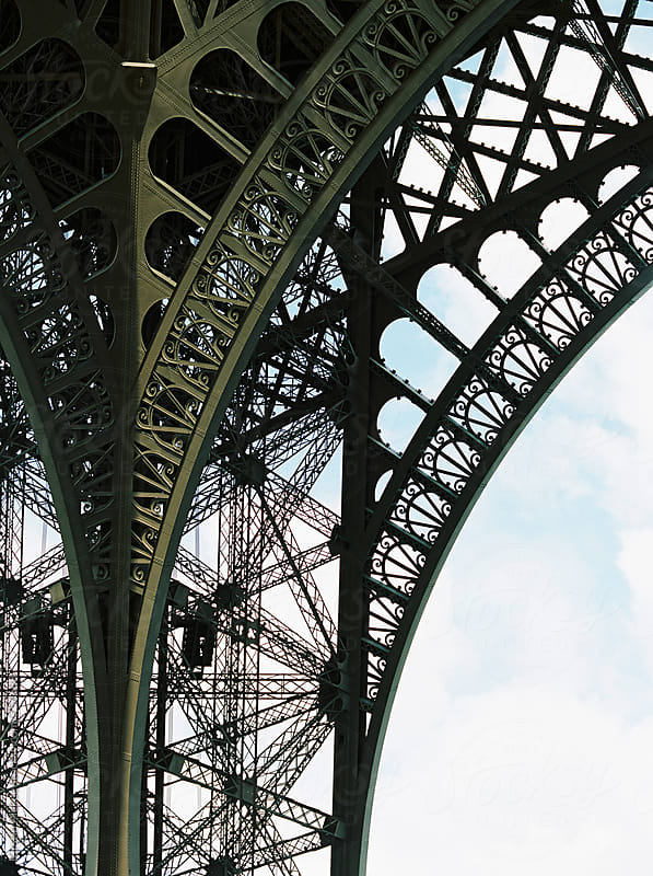 Detail of the Eiffel Tower, France by Kirstin Mckee for Stocksy United