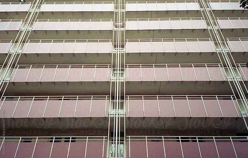 Pink terraces during winter time by VeaVea for Stocksy United