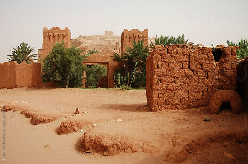 Ait Benhaddou. Fortified mudbrick kasbah, Ouarzazate, Morocco by Bisual Studio for Stocksy United