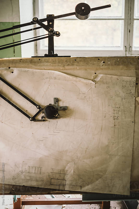 Old engineer's drawing board by Tõnu Tunnel for Stocksy United