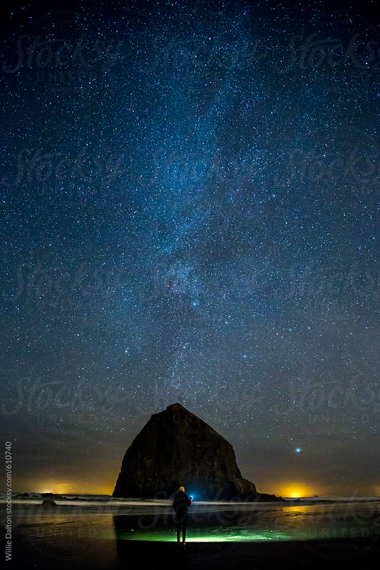 Oregon Coast Night Sky by Willie Dalton for Stocksy United