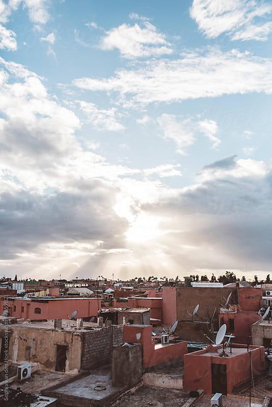 Sunset over Marrakech by Sophia van den Hoek for Stocksy United