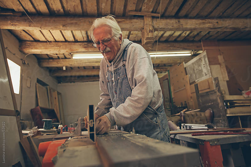 Carpenter Working at his Workshop by Lumina for Stocksy United