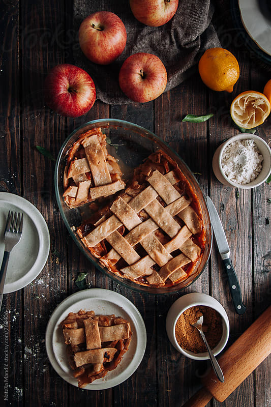 Homemade Apple Pie by Nataša Mandić for Stocksy United