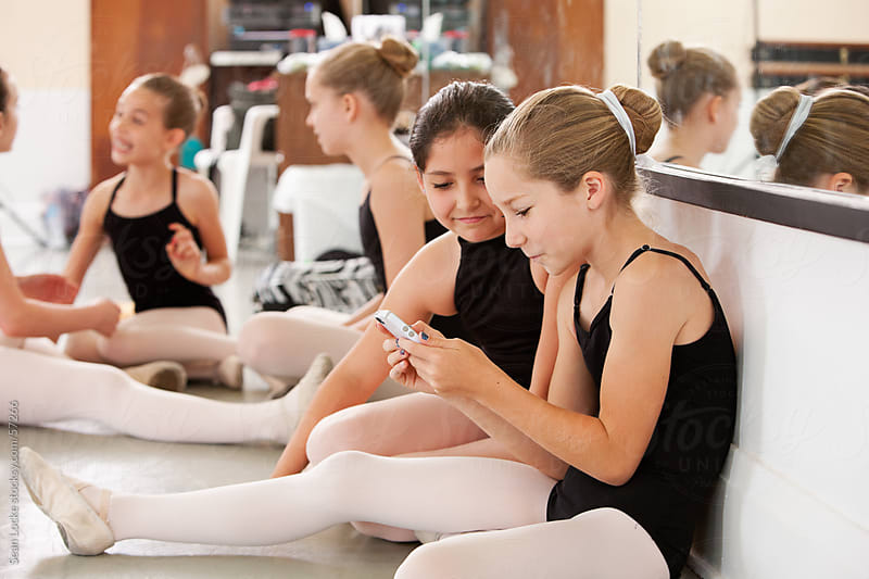 Ballet: Girls Taking a Break from Practice by Sean Locke for Stocksy United