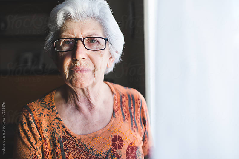 Portrait of senior woman by michela ravasio for Stocksy United