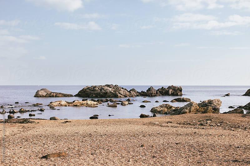 Beautiful seascape on Mediterranean beach. by BONNINSTUDIO for Stocksy United
