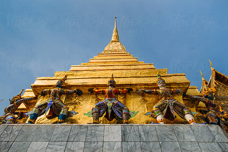 Golden Buddha temple in Thailand by Ilya for Stocksy United