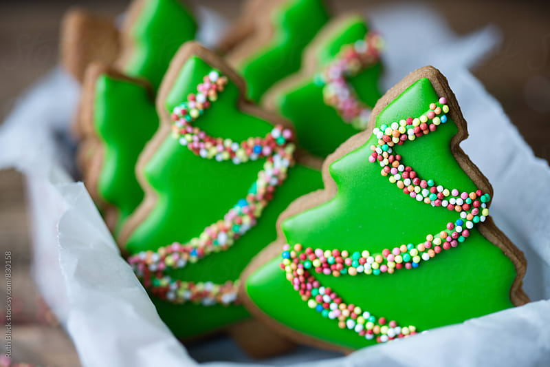 Christmas tree cookies by Ruth Black for Stocksy United