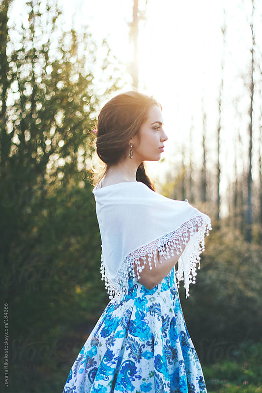 Young woman portrait at sunset by Jovana Rikalo for Stocksy United