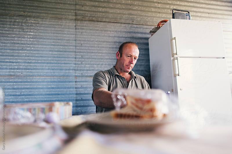 Australian Shearer on a Lunch Break by Gary Radler Photography for Stocksy United
