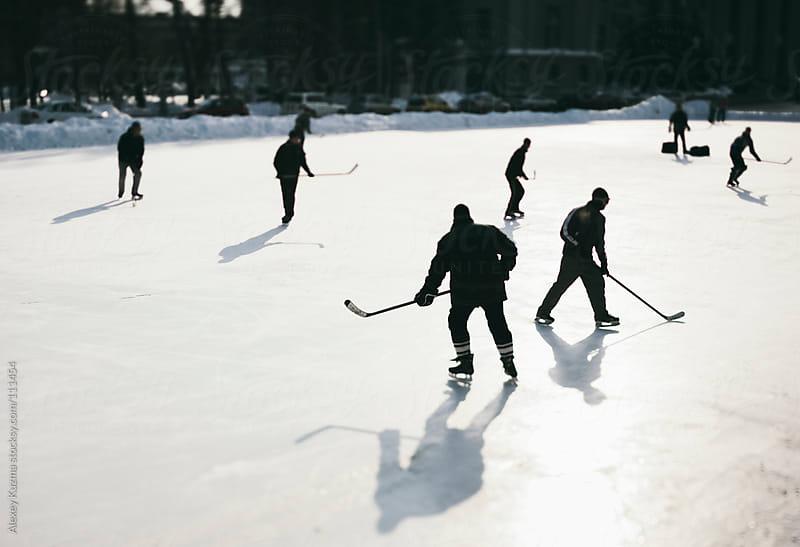 Hockey play by Alexey Kuzma for Stocksy United