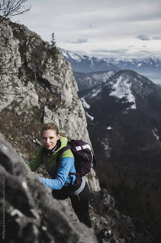 hiking in the mountains by Wolfgang Lienbacher for Stocksy United