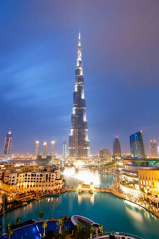 Burj Khalifa, the tallest man made structure in the world at 828 metres, Downtown Dubai, Dubai, United Arab Emirates, Middle East by Gavin Hellier for Stocksy United