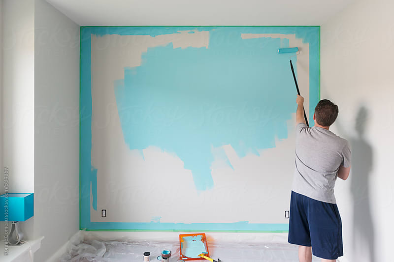 Painting A Room by Ronnie Comeau for Stocksy United
