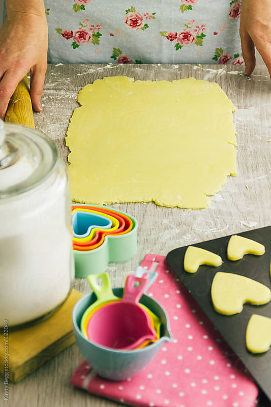 Blank rolled cookie dough by Kirsty Begg for Stocksy United