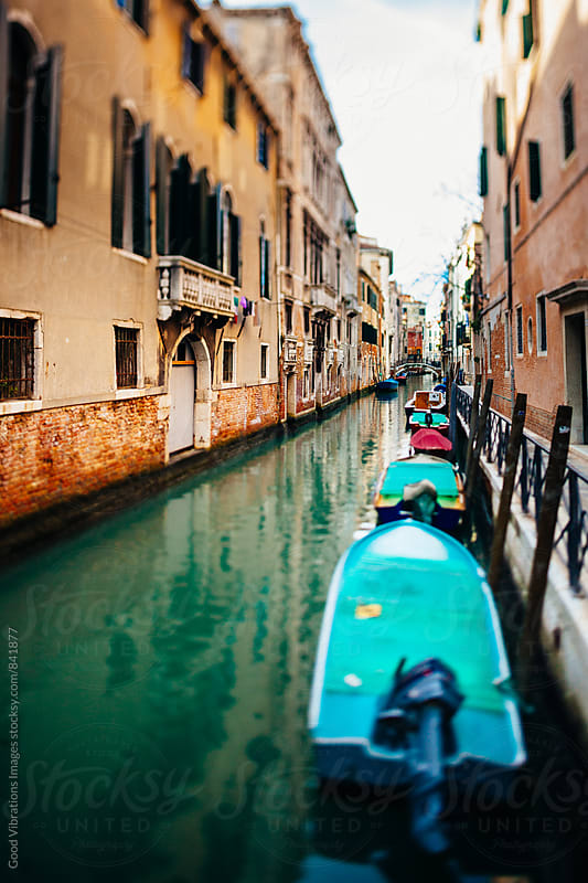 Narrow Canal in Venice by Good Vibrations Images for Stocksy United