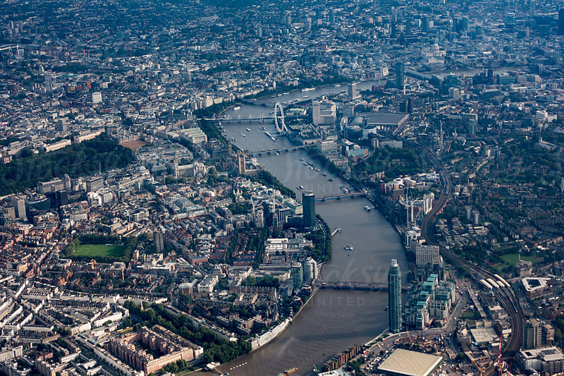 London from the air by Gary Radler Photography for Stocksy United