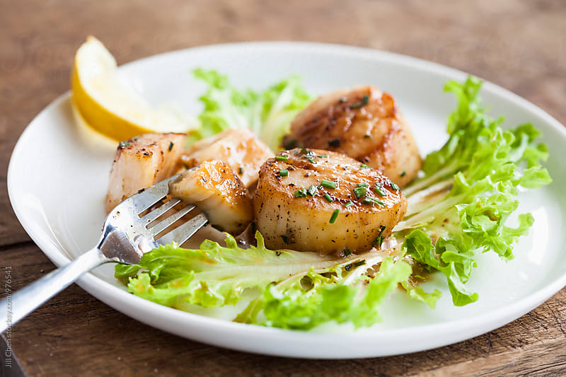 Seared Scallops by Jill Chen for Stocksy United