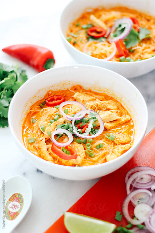 Coconut Curry Soup by Taylor Kampa for Stocksy United