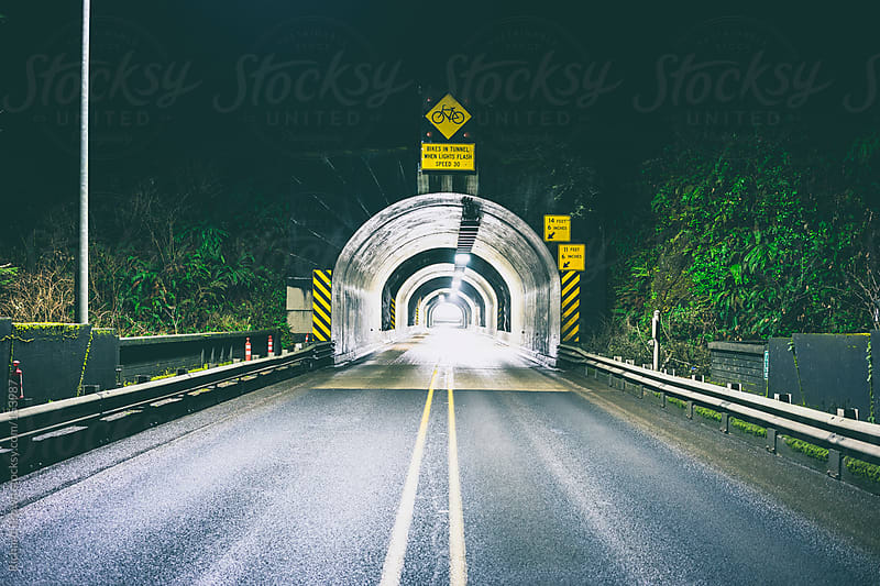 Tunnel at Night by Richard Brown for Stocksy United
