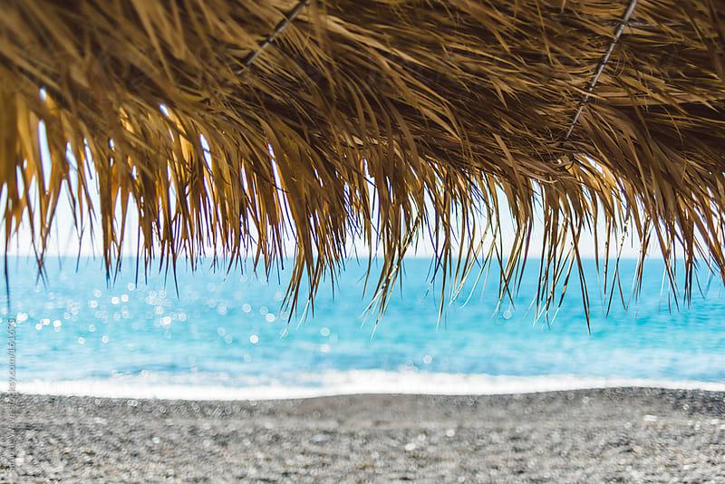 Beach background in Santorini by GIC for Stocksy United