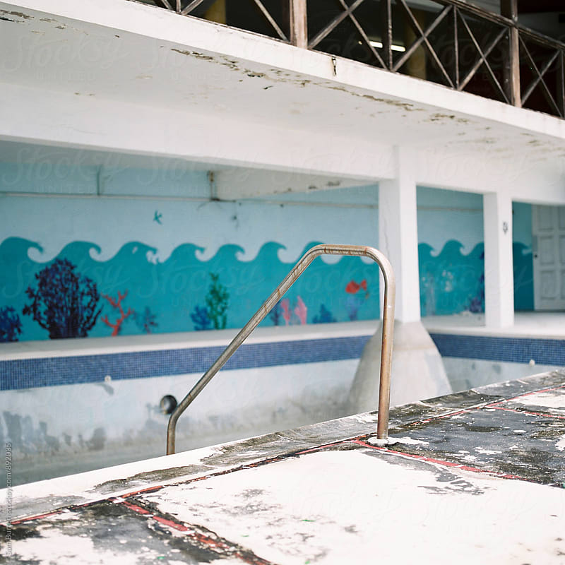 Empty swimming pool by Sam Burton for Stocksy United