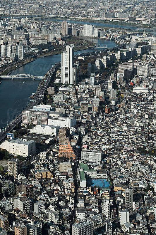 Tokyo City from above by Rowena Naylor for Stocksy United