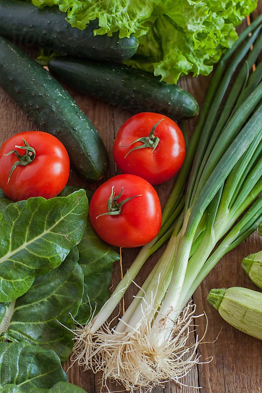 Healthy Organic Vegetables as a Background by Mosuno for Stocksy United