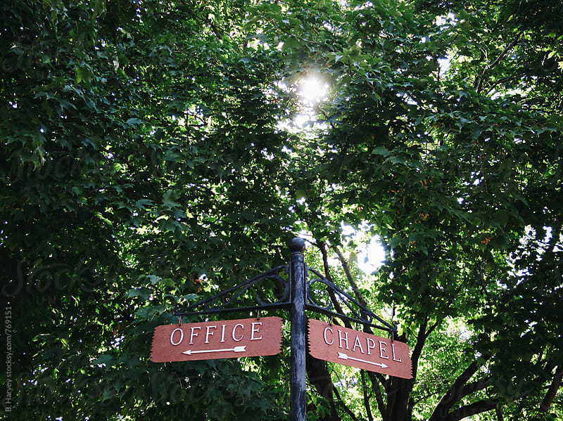 This way to the chapel by B. Harvey for Stocksy United