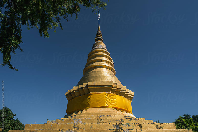 Gold Pagoda by Chalit Saphaphak for Stocksy United
