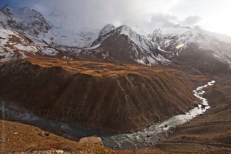 Mountain river in Ladakh,India by PARTHA PAL for Stocksy United