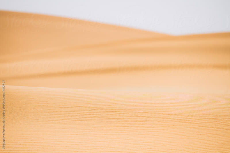 Desert sand dune texture by Alejandro Moreno de Carlos for Stocksy United