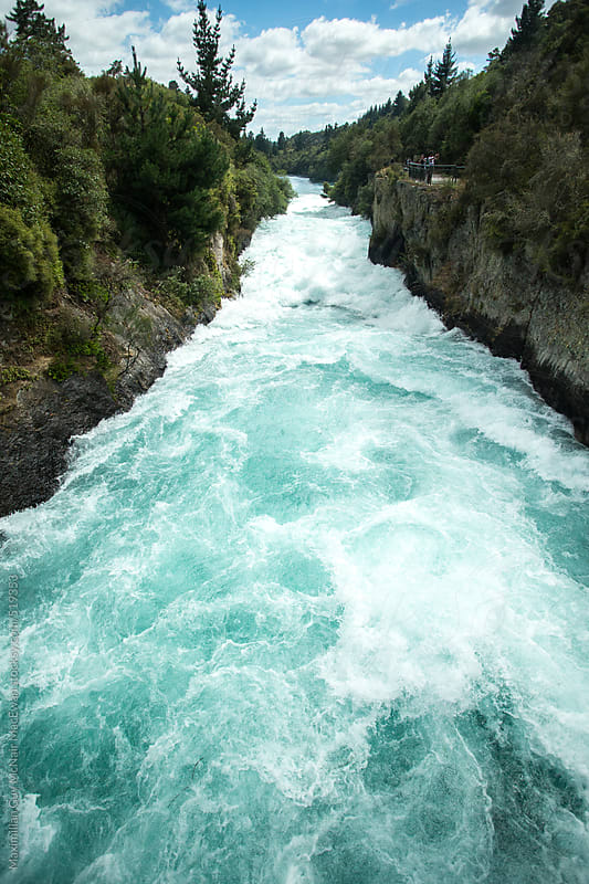 The Huka Falls River by Maximilian Guy McNair MacEwan for Stocksy United