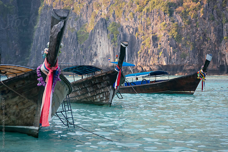 Boats in Thailand by Mauro Grigollo for Stocksy United