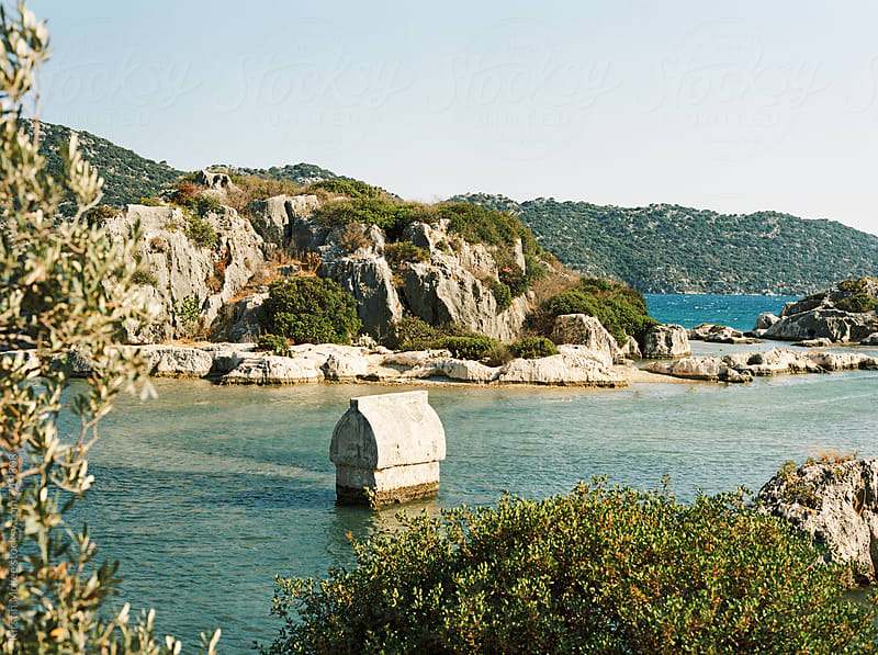 Lycian tomb at Kekova, Turkey by Kirstin Mckee for Stocksy United