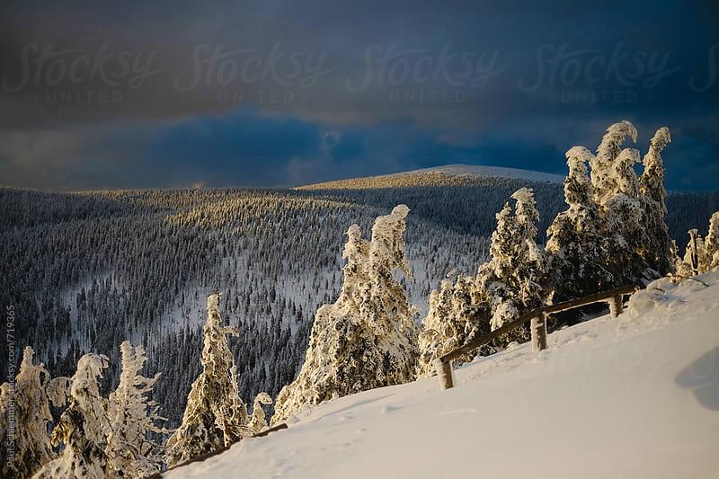 epic winter landscape by Paul Schlemmer for Stocksy United