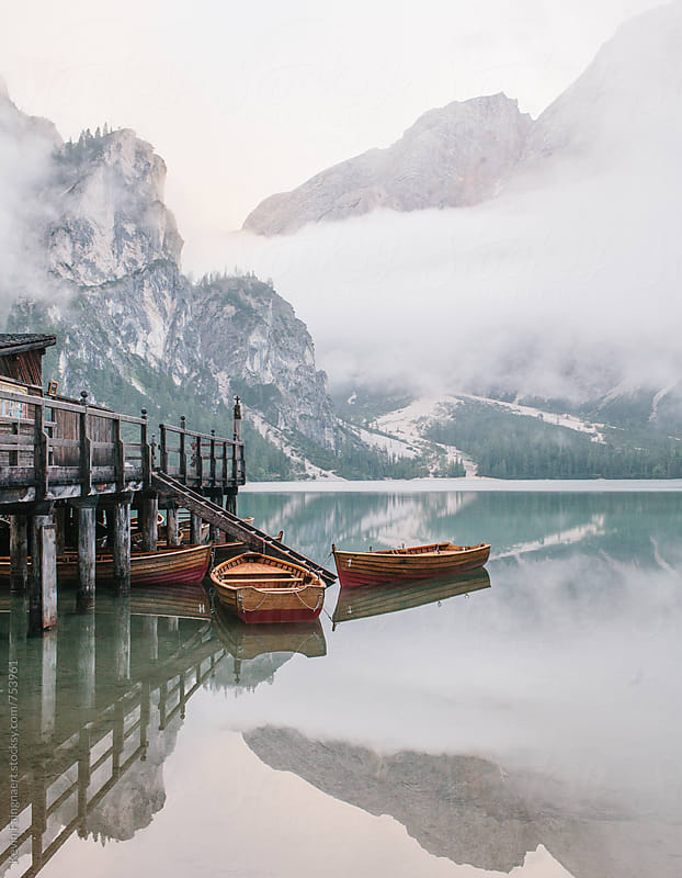 Lake Braies, Italy by Kevin Faingnaert for Stocksy United