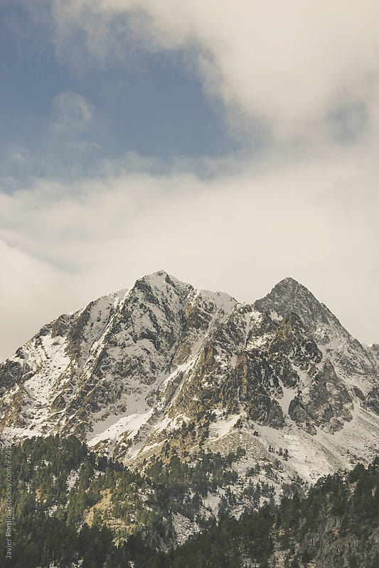 snowy mountain in the Pyrenees by Javier Pardina for Stocksy United