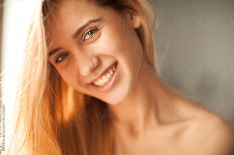 Cute girl smiling  by MEM Studio for Stocksy United